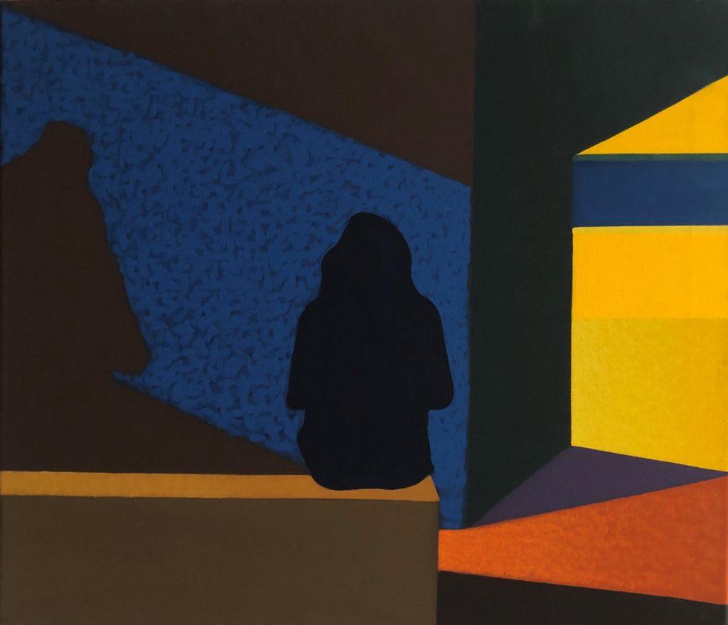 Geomety of the light, 60x70 cm, yolk temper on canvas, 2019, 4500 zł